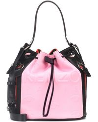 KENZO - Kombo Leather-trimmed Bucket Bag - Lyst