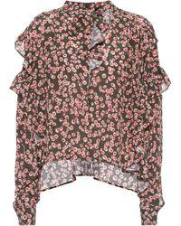Isabel Marant | Sibel Printed Silk Top | Lyst