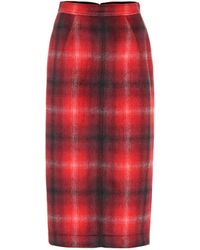 N°21 - Plaid Pencil Skirt - Lyst