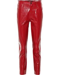 J Brand - Ruby High-rise Patent Leather Pants - Lyst