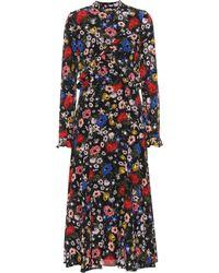 Erdem - Cordelia Floral Silk Midi Dress - Lyst