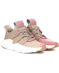 adidas Originals - Prophere Leather-trimmed Sneakers - Lyst