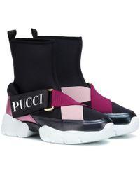 Emilio Pucci - Zapatillas de caña alta de neopreno - Lyst