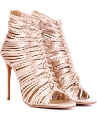 Aquazzura - Goddess 105 Satin Sandals - Lyst