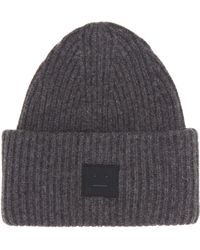 Acne Studios - Pansy Face Wool-blend Beanie - Lyst