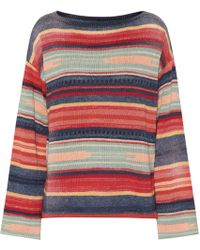Polo Ralph Lauren - Striped Linen-blend Sweater - Lyst