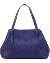 Bottega Veneta - Medium Cesta Intrecciato Leather Shopper - Lyst
