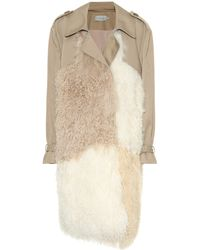 Preen By Thornton Bregazzi - Mara Shearling-trimmed Trench Coat - Lyst
