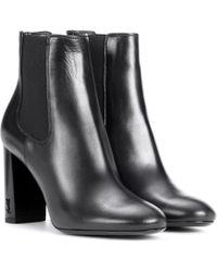 Saint Laurent - Babies 90 Leather Ankle Boots - Lyst