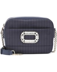 Roger Vivier - Photocall Striped Shoulder Bag - Lyst