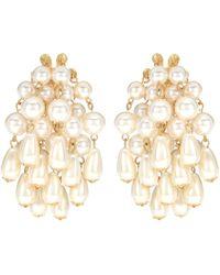 Lele Sadoughi - Pearl Cluster Earrings - Lyst