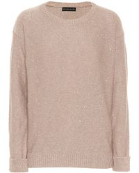 Etro - Sequinned Wool-blend Sweater - Lyst