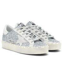 Golden Goose Deluxe Brand - Sneakers Hi Star con glitter - Lyst