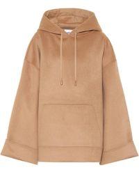 Nanushka - Luz Oversized Wool And Silk Hoodie - Lyst