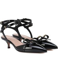 RED Valentino - Patent Leather Slingback Court Shoes - Lyst