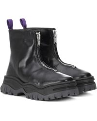 Eytys - Raven Platform Leather Ankle Boots - Lyst