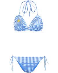 Ganni - Exclusive To Mytheresa. Com – Aroa Printed Bikini - Lyst