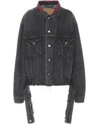 Balenciaga - Embroidered Denim Jacket - Lyst