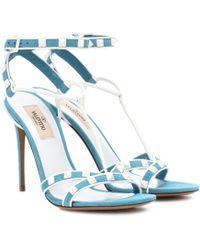 Valentino - Free Rockstud Spike Suede Sandals - Lyst