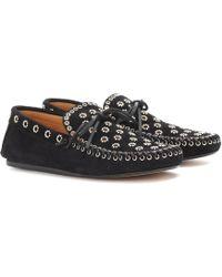 527836c1274 Isabel Marant Fenzay Stud-embellished Leather Loafers - Lyst