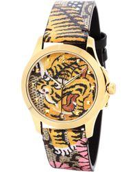 Gucci - Bengal-print Watch - Lyst