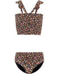 Ganni - Ipanema Floral-printed Bikini - Lyst
