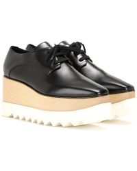 Stella McCartney - Zapatos derby con plataforma Elyse - Lyst