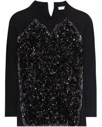 Sonia Rykiel - Sequinned Cotton Sweatshirt - Lyst