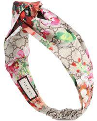 Gucci - Printed Silk-satin Headband - Lyst
