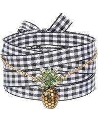 Miu Miu - Bracelet en toile et métal à ornements - Lyst