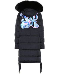 Emilio Pucci - Fur-trimmed Down Jacket - Lyst