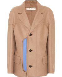 Marni - Wool-blend Coat - Lyst