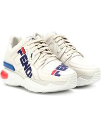 Fendi - MANIA Sneakers aus Leder - Lyst