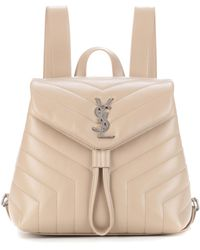Saint Laurent - Small Loulou Leather Backpack - Lyst