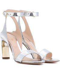 Nicholas Kirkwood - Lola Pearl 90mm Metallic Sandals - Lyst
