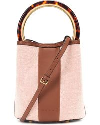 Marni - Pannier Canvas Bucket Bag - Lyst
