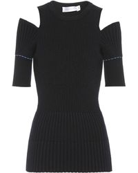 Victoria Beckham - Ribbed Wool Top - Lyst