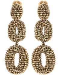 Oscar de la Renta - Oscar O Beaded Earrings - Lyst