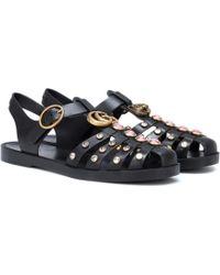 Gucci - Verzierte Sandalen - Lyst