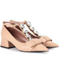 Marni - Embellished Leather Pumps - Lyst