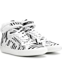 Pierre Hardy - Mytheresa. Com Exclusive Printed Leather High-top Trainers - Lyst