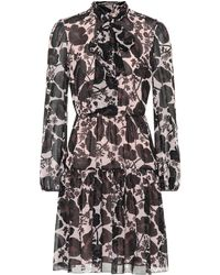 Giambattista Valli - Floral-printed Silk Minidress - Lyst