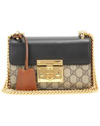 2cebdb8b59a4 Gucci - Padlock Gg Supreme Leather And Coated Canvas Shoulder Bag - Lyst