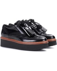 Tod's - Leather Platform Derby Shoes - Lyst