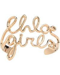 Chloé - Golden Bracelet - Lyst