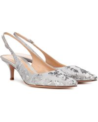 Gianvito Rossi - Daze Sequined Satin Slingback Pumps - Lyst