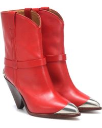 Isabel Marant - Ankle Boots Lamsy aus Leder - Lyst
