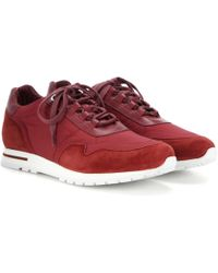 Loro Piana - My Wind Suede And Fabric Trainers - Lyst