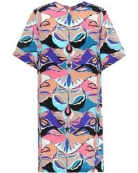 Emilio Pucci - Printed Silk Dress - Lyst