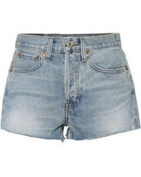 RE/DONE - The Short Denim Shorts - Lyst